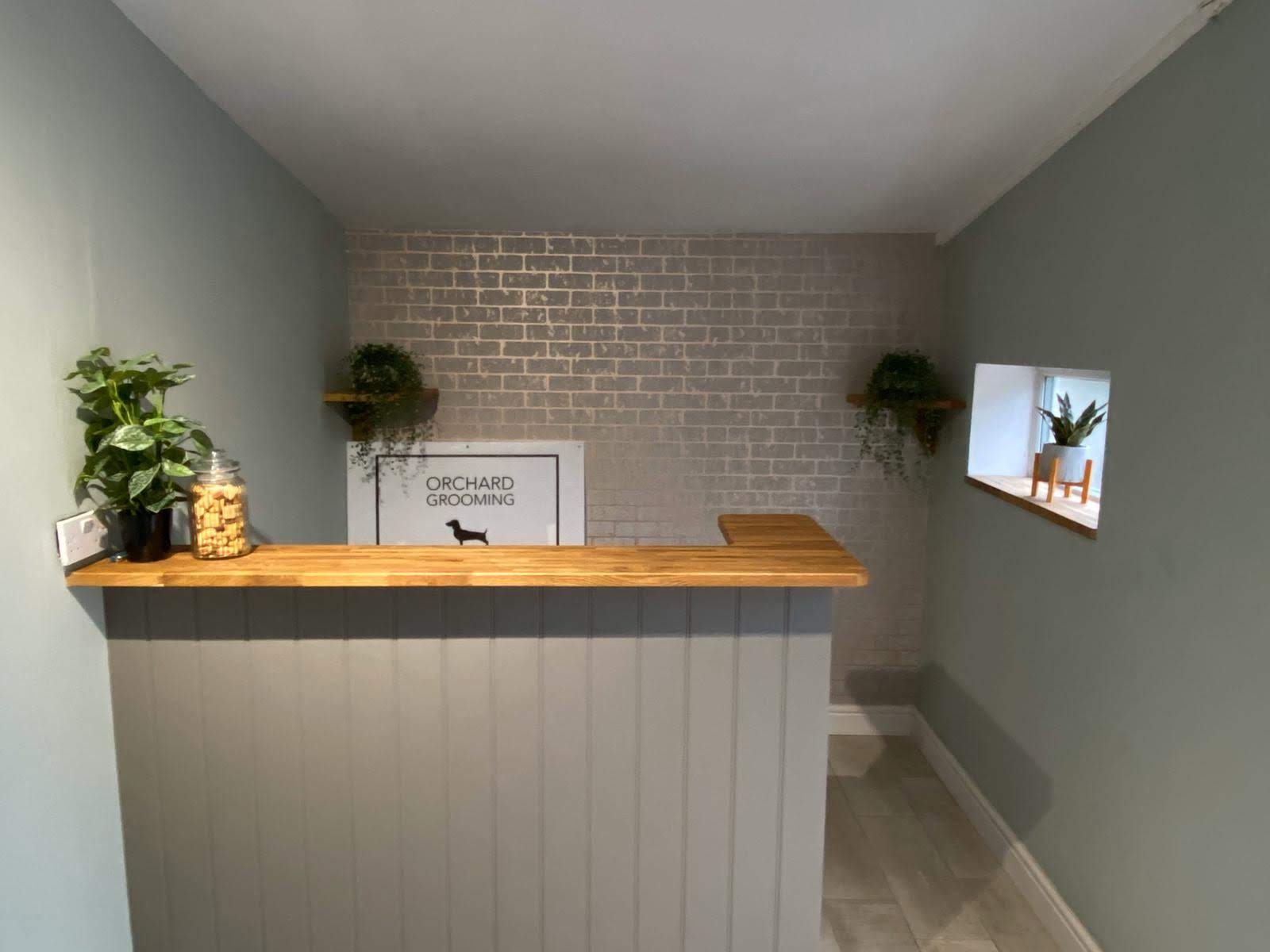Orchard Dog Grooming Reception in Southam Cheltenham